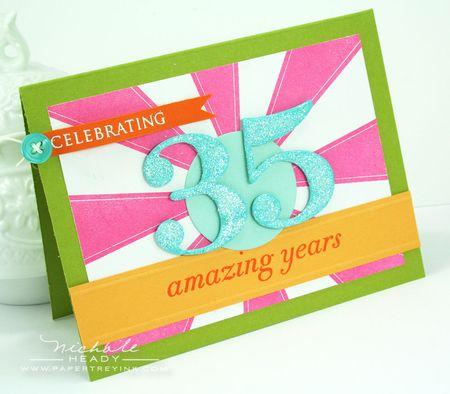 35 amazing years card