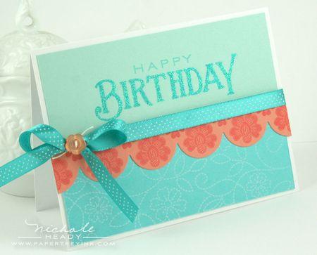 Glittered Birthday Card