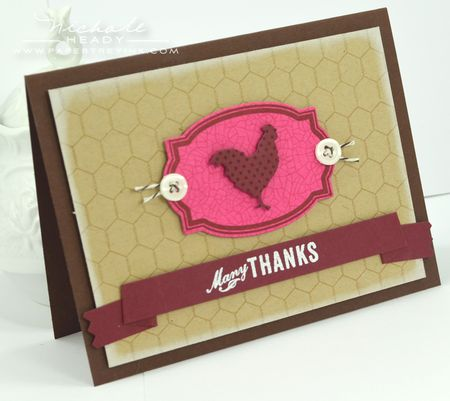 Many Thanks Rooster Card