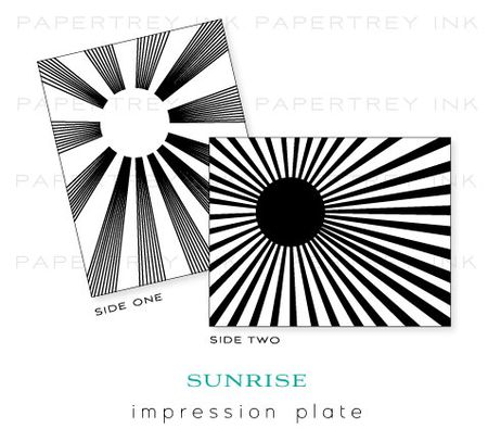 Sunrise-impression-plate