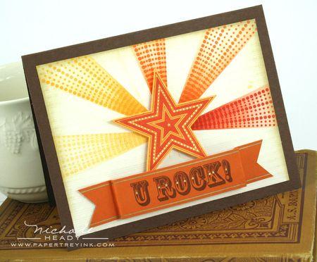 U Rock card