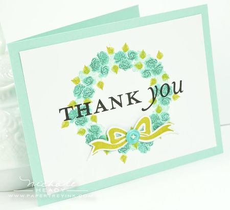Wreath Thank You Card
