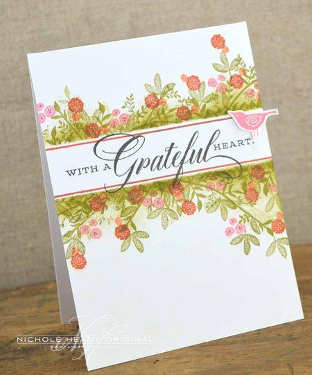 Gratful Heart Bird Card