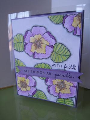 Violets card front