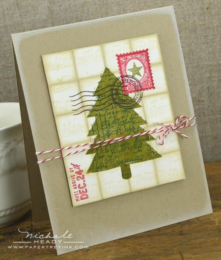 Postmarked Tree Card