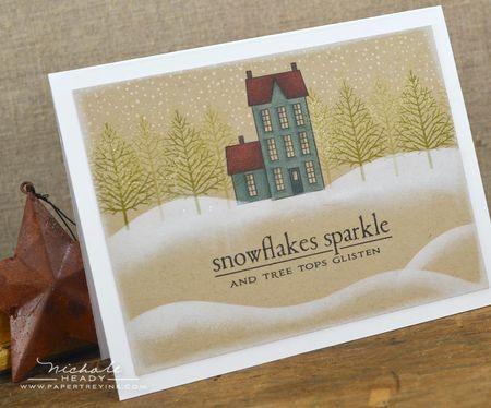 Snowflakes sparkle card