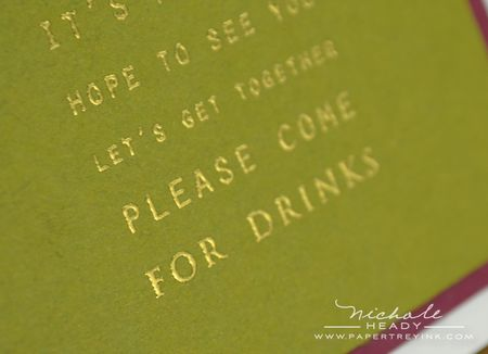 For drinks