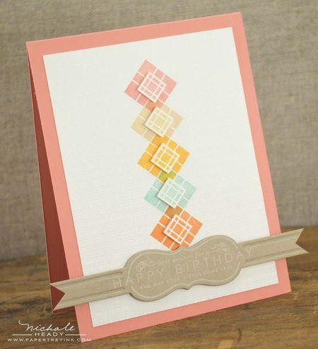 Happy Birthday Diagonals card