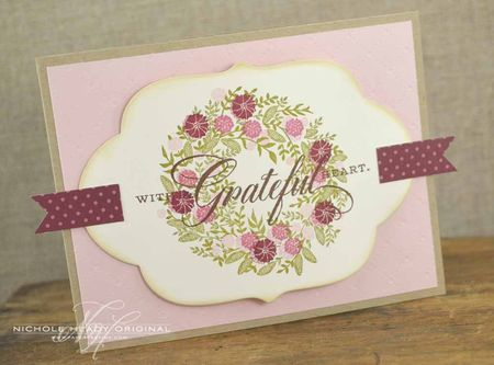 With a Grateful Heart Wreath Card