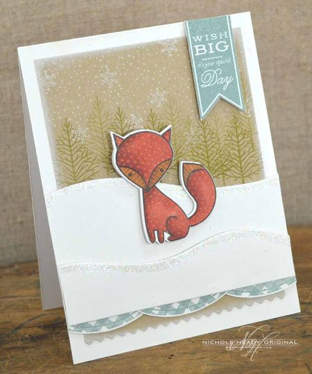 Fox Bookmark Card