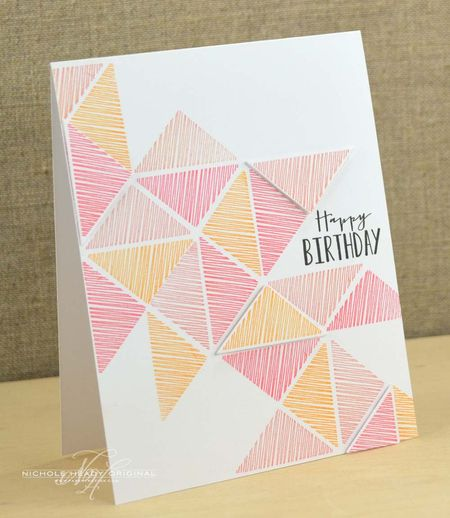 Triangles Birthday Card