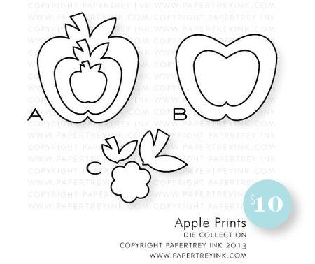Apple-prints-dies
