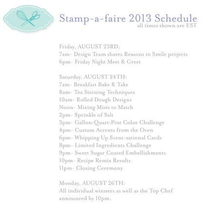 SAF-2013-Schedule