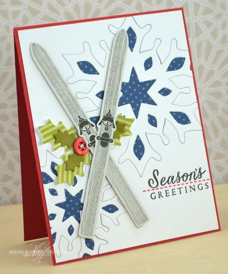 Season's Greetings Skis Card
