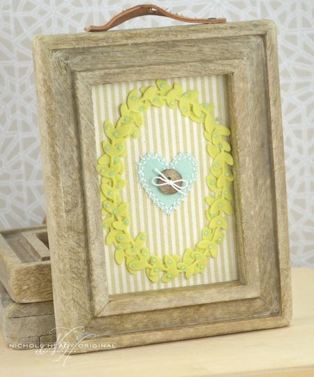 Framed Beaded Wreath