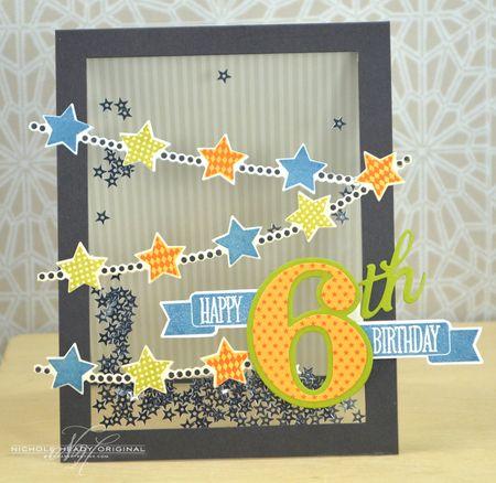 Starry Shaker Birthday Card