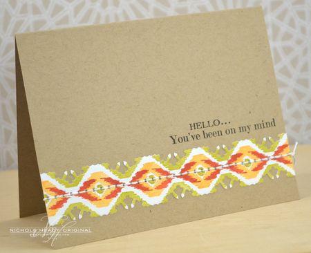 Hello Ikat Card
