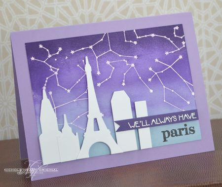 Paris Starry Night Card