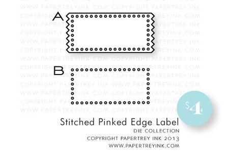 Stitched-Pinked-Edge-Label-die