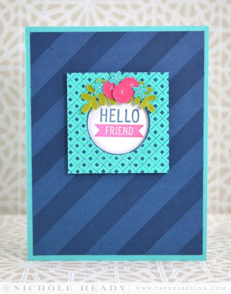 Hello Friend Floral Card