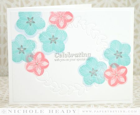 Ruby Reprise Wreath Card