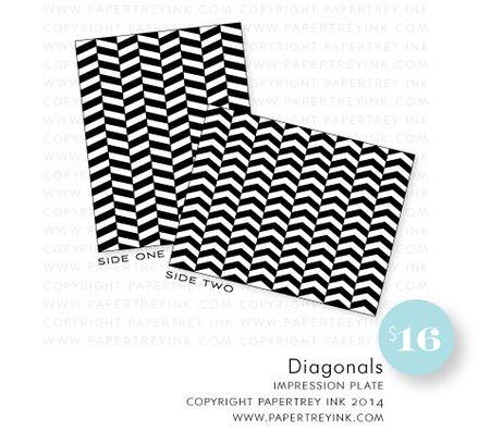 Diagonals-impression-plate