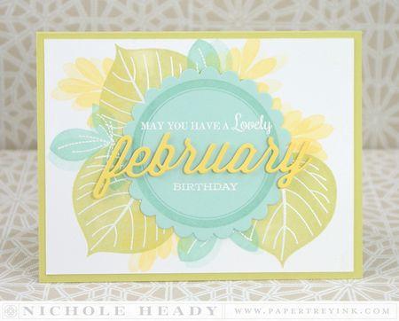 Lovely February Birthday Card