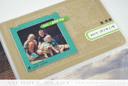 Slide frame card