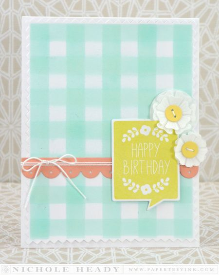 Gingham Birthday Card