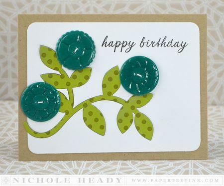 Triple Button Birthday Card