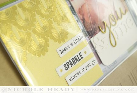 Sparkle journal card