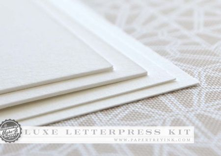 Luxe Letterpress lettra thickness