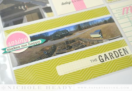 Panoramic garden card