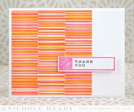 Pink & Orange Thank You Card