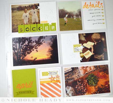 April Photos Layout