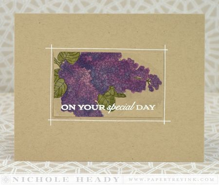 Special Day Lilacs Card