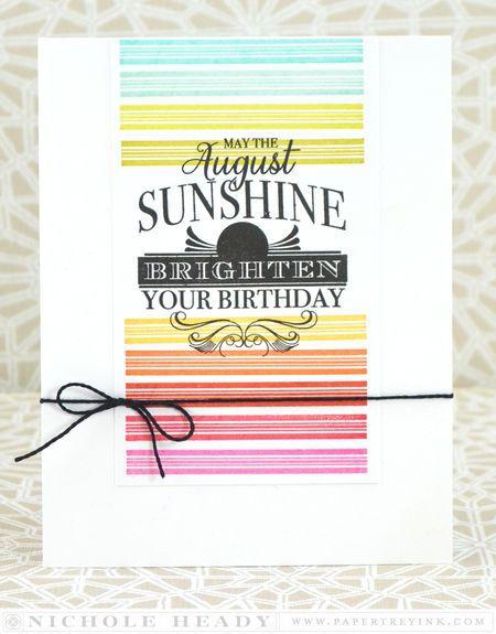 August Rainbow Birthday Card