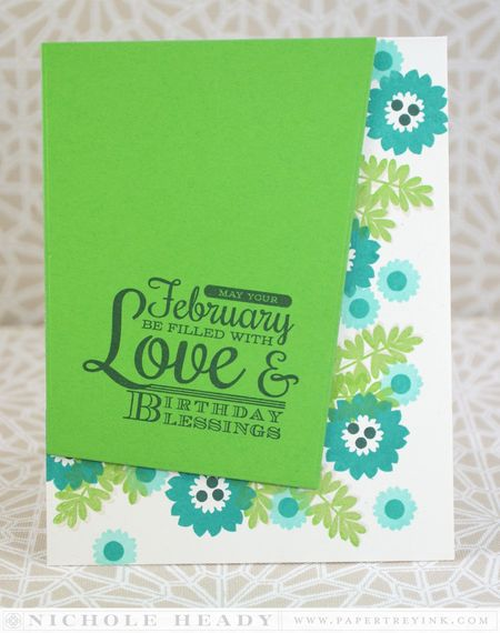 February Birthday Blessings Card