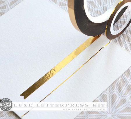 Luxe Letterpress tape