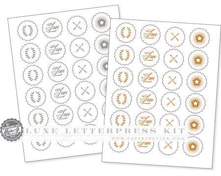 Luxe-Letterpress-printables