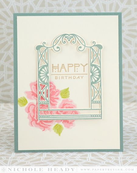Framed Floral Birthday Card