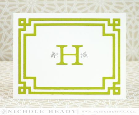Monogram Notecard
