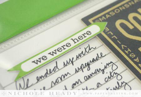 We were here arrow