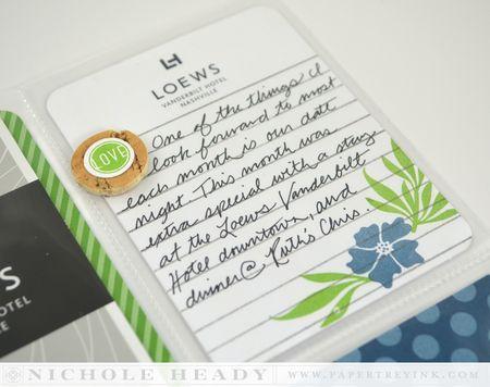 Notepad journal card