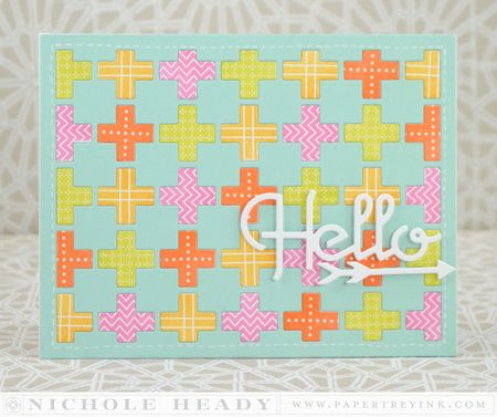 Quilted Hello Card