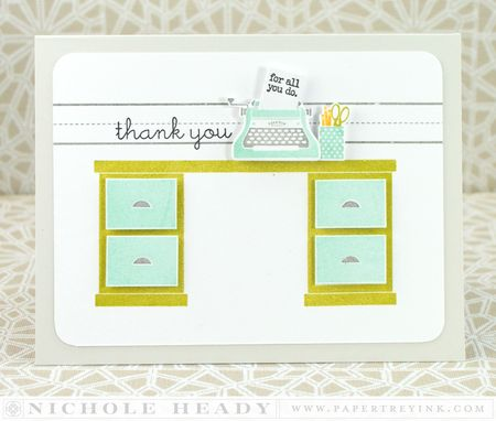 Typed Thank You Card