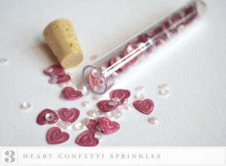 3 heart confetti