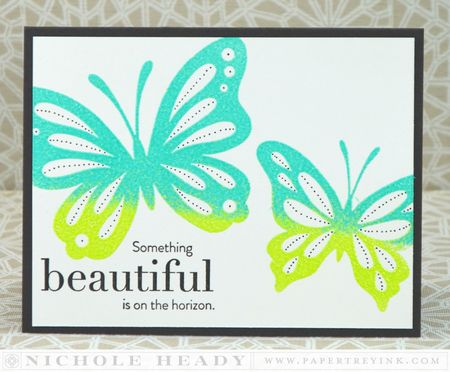 Ombre Embossed Card