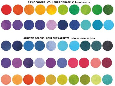 Splash Ink Color Chart