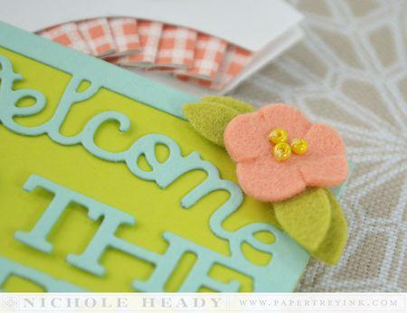 Card flower detail